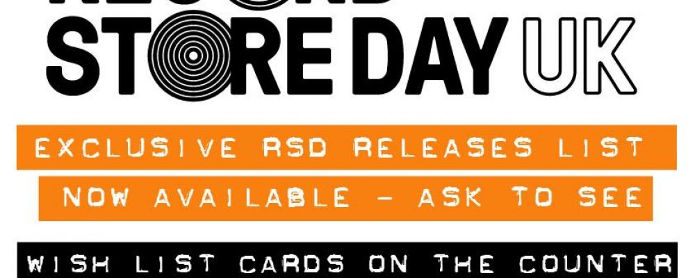 Record Store Day UK 2018 – 21st April 2018
